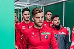 13.04.2019, Weserstadion, Bremen, GER, 1.FBL, Werder Bremen vs SC Freiburg<br /> <br /> DFL REGULATIONS PROHIBIT ANY USE OF PHOTOGRAPHS AS IMAGE SEQUENCES AND/OR QUASI-VIDEO.<br /> <br /> im Bild / picture shows<br /> Lukas H&ouml;ler / Hoeler (SC Freiburg #09) im Spielertunnel, <br /> <br /> Foto &copy; nordphoto / Ewert