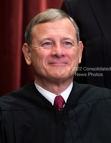 Chief Justice of the United States John G. Roberts, Jr. poses during the official Supreme Court group portrait at the Supreme Court on November 30, 2018 in Washington, D.C. <br /> Credit: Kevin Dietsch / Pool via CNP