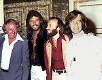 Bee Gees 1978 Robert Stigwood, Barry Gibb,Maurice Gibb and Robin Gibb with Robert Stigwood.© Chris Walter