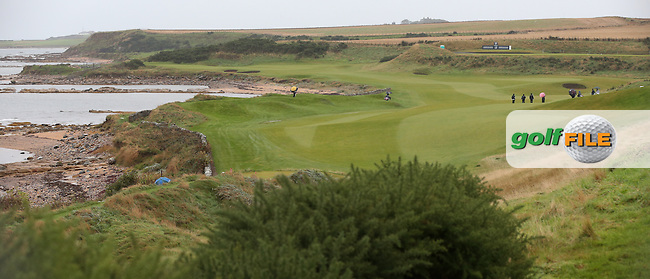 Shoreline view of the 12th during R3 at Kingsbarns of the 2014 Alfred Dunhill Links Championship, The Old Course, St Andrews, Fife, Scotland. Picture:  David Lloyd / www.golffile.ie