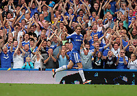 Pictured: Fernando Torres of Chelsea celebrating his opening goal. Saturday 17 September 2011<br />