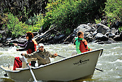 Fishermen & Women floating the Upper Colorado River fishing between Rancho Del Rio and State Bridge on August 7, 2014.