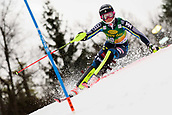2nd February 2019, Maribor, Slovenia;  Charlotta Saefvenberg of Sweden in action during the Audi FIS Alpine Ski World Cup Women's Slalom Golden Fox on February 2, 2019 in Maribor, Slovenia