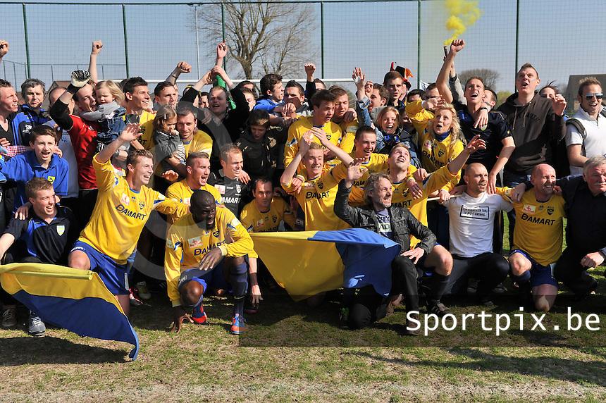 Jong Vijve - Dottignies / Dottenijs  : Dottenijs kampioen in 4de provinciale C.foto VDB / BART VANDENBROUCKE