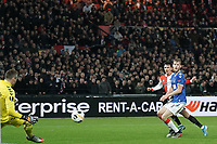28th November 2019, Rotterdam, Netherlands; Europa League football, Feyenoord versus Glasgow Rangers;  Feyenoord player Steven Berghuis with a shot on goal - Editorial Use