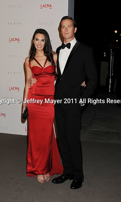 LOS ANGELES, CA - NOVEMBER 05: Armie Hammer and Elizabeth Chambers attend LACMA's Art And Film Gala Honoring Clint Eastwood And John Baldessari at LACMA on November 5, 2011 in Los Angeles, California.