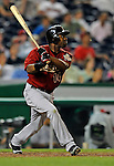 11 July 2008: Houston Astros' center fielder Michael Bourn in action against the Washington Nationals at Nationals Park in Washington, DC. The Nationals shut out the Astros 10-0 in the first game of their 3-game series...Mandatory Photo Credit: Ed Wolfstein Photo