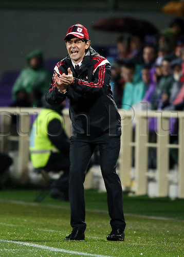 16.03.2015. Artemio Franchi stadium, Firenze, Italy. Serie A football. Fiorentina versus AC Milan. Inzaghi tries to urge on his players