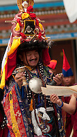 Buddhist Head Lama conducting Losar prayers, Sikkim, India