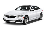 2019 BMW 4 Series 430i Gran Coupe 5 Door Hatchback angular front stock photos of front three quarter view