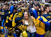 CAL Fans are cheering before the game between California and Stanford at Haas Pavilion in Berkeley, California on January  29th, 2012.   California defeated Stanford, 69-59.
