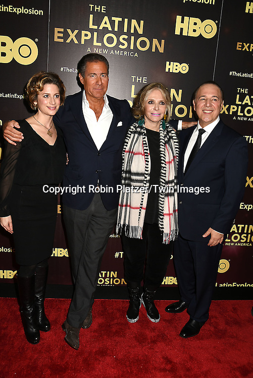 Sarah Bernstein,Richard Plepler, Sheila Nevins and Tommy Mottola  attends the HBO premiere of &quot;The Latin Explosion: A New America&quot; on November 10, 2015 at the Hudson Theater in New York City, New York, USA.<br /> <br /> photo by Robin Platzer/Twin Images<br />  <br /> phone number 212-935-0770