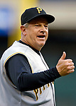 5 June 2007: Pittsburgh Pirates third base coach Jeff Cox gives a thumps-up sign during a game against the Washington Nationals at RFK Stadium in Washington, DC. The Pirates defeated the Nationals 7-6, in the first game of their 3-game series...Mandatory Credit: Ed Wolfstein Photo