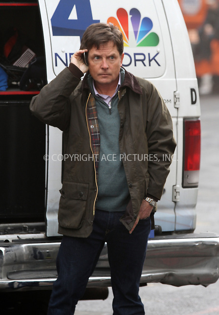 WWW.ACEPIXS.COM....January 30 2013, New York City....Actor Michael J Fox on the set of the new NBC family comedy show on January 30 2013 in New York City....By Line: Zelig Shaul/ACE Pictures......ACE Pictures, Inc...tel: 646 769 0430..Email: info@acepixs.com..www.acepixs.com