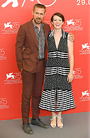 VENICE, ITALY - AUGUST 29: Canadian actor Ryan Gosling and English actress Claire Foy attend the photocall for First Man during the 75th Venice Film Festival at Sala Grande on August 29, 2018 in Venice, Italy.<br /> CAP/BEL<br /> &copy;BEL/Capital Pictures