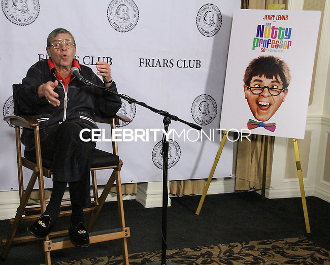 NEW YORK CITY, NY, USA - JUNE 05: Jerry Lewis at the Friars Club Celebrates Jerry Lewis And 50th Anniversary Of 'The Nutty Professor' held at New York Friars Club on June 5, 2014 in New York City, New York, United States. (Photo by Jeffery Duran/Celebrity Monitor)