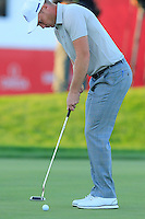 Danny Willett (ENG) Team Europe takes his putt at the 18th green during Saturday Afternoon Fourball Matches of the 41st Ryder Cup, held at Hazeltine National Golf Club, Chaska, Minnesota, USA. 1st October 2016.<br /> Picture: Eoin Clarke | Golffile<br /> <br /> <br /> All photos usage must carry mandatory copyright credit (&copy; Golffile | Eoin Clarke)