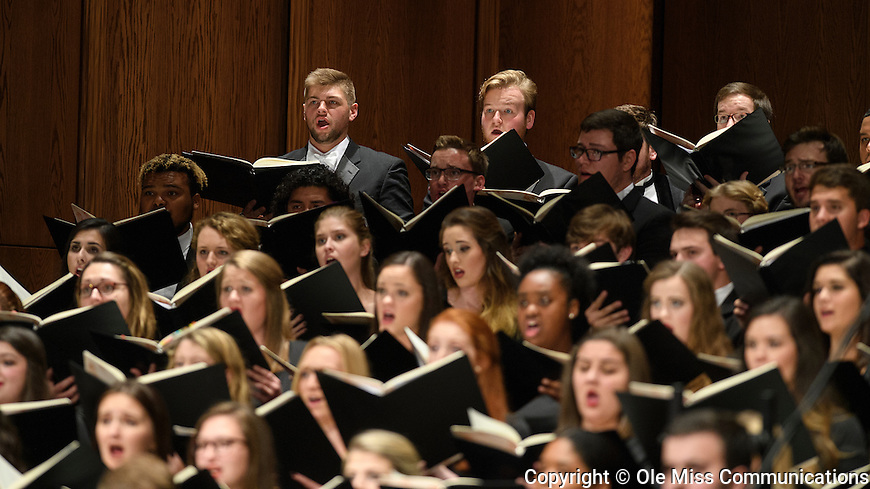 """The University of Mississippi Chorus performs Carl Off's """"Carmina Burana"""" at the Ford Center. Photo by Thomas Graning/Ole Miss Communications"""