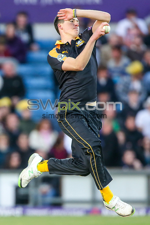 Picture by Alex Whitehead/SWpix.com - 05/06/2015 - Cricket - NatWest T20 Blast - Yorkshire Vikings v Lancashire Lightning - Headingley Cricket Ground, Leeds, England - Yorkshire's Matthew Fisher bowls.