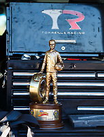 May 7, 2017; Commerce, GA, USA; Detailed view of the Wally trophy won by NHRA top fuel driver Steve Torrence after winning the Southern Nationals at Atlanta Dragway. Mandatory Credit: Mark J. Rebilas-USA TODAY Sports