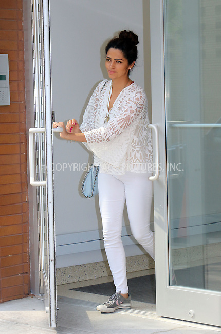 WWW.ACEPIXS.COM<br /> <br /> June 11 2015, New York City<br /> <br /> Model Camila Alves leaves an office in Midtown Manhattan on June 11 2015 in New York City<br /> <br /> By Line: Philip Vaughan/ACE Pictures<br /> <br /> ACE Pictures, Inc.<br /> tel: 646 769 0430<br /> Email: info@acepixs.com<br /> www.acepixs.com