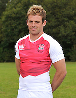 Drybrook, England. England Sevens captain Rob Vickerman poses during the official launch of the new season's England Canterbury kit at Drybrook Rugby Club on September 19, 2012 in Gloucester, England.