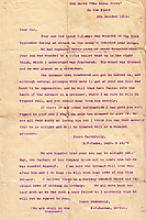 BNPS.co.uk (01202 558833)<br /> Pic: Bosleys/BNPS<br /> <br /> Letter to Lt Mayo's family after he was wounded and then captured near Ypres in 1915.<br /> <br /> The stark contrast between the relative life of luxury enjoyed by captured Tommies of the First World War to the hell of the trenches they left behind can be revealed in a remarkable archive.<br /> <br /> It seems that being taken prisoner was a blessing in disguise judging by the gallery of photos that show the British officers leading a very civilised life at a German PoW camp.<br /> <br /> There was a gentlemen's agreement in place which would see the detainees allowed outside the camp during the day as long as they returned by the evening.<br /> <br /> The archive of Lieutenant Charles Mayo, which includes three of his First World War medals, is being sold by Bosley's auctioneers of Marlow, Bucks on Wednesday.