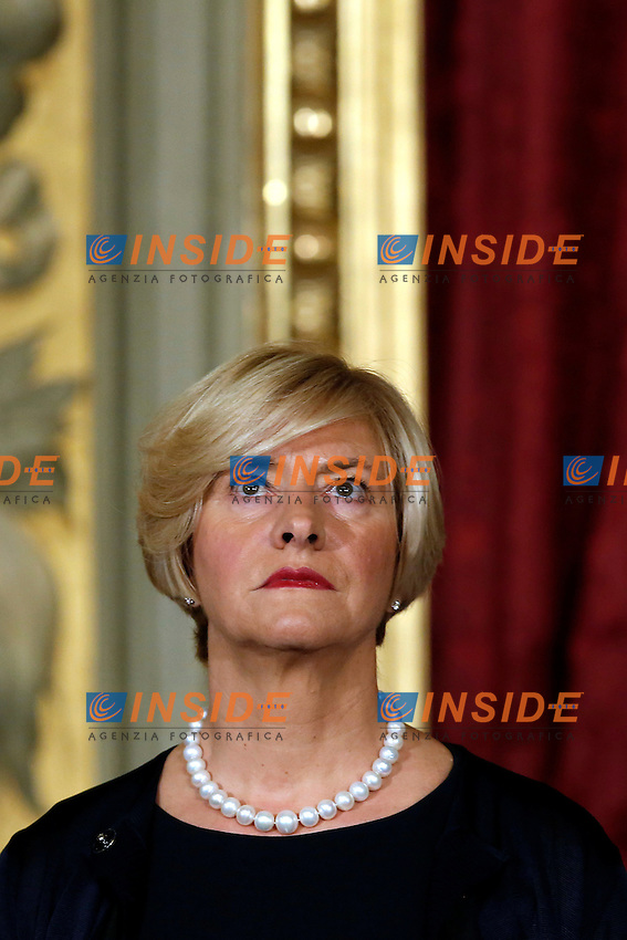 Roberta Pinotti<br /> Roma 12-12-2016. Quirinale Cerimonia del Giuramento dei Ministri del nuovo Governo<br /> Rome December 12th 2016. Swearing ceremony of the new Government<br /> Foto Samantha Zucchi Insidefoto