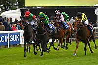 Winner of The British Stallion Studs EBF Fillies' Handicap,White Chocolate green\yellow cap ridden by Daniel Muscott and trained by David Simcock during Afternoon Racing at Salisbury Racecourse on 18th May 2017