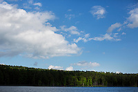 A view of Tully Lake at Tully Lake Campground near Royalston, Massachusetts, USA.