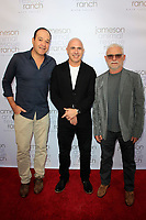 BEVERLY HILLS - DEC 2: Juan Mercado, Patrice Breton, Manuel Pires at the Jameson Animal Rescue Ranch Presents NapaWood - A Benefit For The Animals Of Napa Valley at a Private Residence on December 2, 2017 in Beverly Hills, California