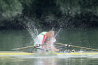 Ottensheim, AUSTRIA.  A  Final,  BUL JM1X, Aleksandar ALEKSANDROV, after winning the Gold medal, at the 2008 FISA Senior and Junior Rowing Championships,  Linz/Ottensheim. Saturday,  26/07/2008.  [Mandatory Credit: Peter SPURRIER, Intersport Images] Rowing Course: Linz/ Ottensheim, Austria