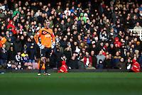 Pictured: Swansea goalkeeper Gerhard Tremmel. 01 February 2014<br /> Re: Barclay's Premier League, West Ham United v Swansea City FC at Boleyn Ground, London.