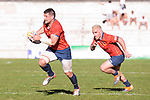 Spain's Gautier Gibouin and Guillaume Rouet during Rugby Europe Championship 2017 match between Spain and Belgium in Madrid. March 18, 2017. (ALTERPHOTOS/Borja B.Hojas)
