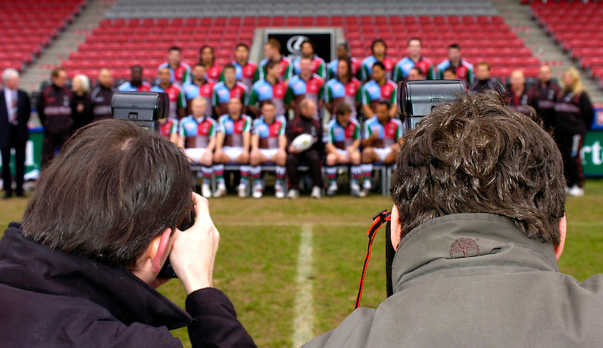 Photo: Richard Lane..Harlequins RL Press Season Media Day. 30/01/2006..Photographers capture the Harlequins team.