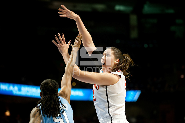 SPOKANE, WA - MARCH 26, 2011: Sarah Boothe, Stanford Women's Basketball vs University of North Carolina, NCAA West Regionals on March 26, 2011.