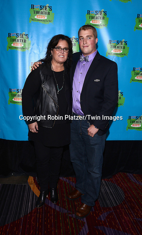 Rosie O'Donnell and son Parker O' Donnell  attend Rosie O'Donnell's 11th Annual Rosie's Theater Kids Gala on September 22, 2014 at The New York Marriott Marquis in New York City.<br /> <br /> photo by Robin Platzer/Twin Images<br />  <br /> phone number 212-935-0770