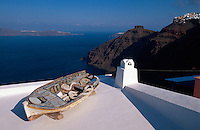 Griechenland, Insel Santorin (Santorini), in Firostefani