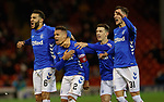 06.02.2019: Aberdeen v Rangers: James Tavernier celebrates his penalty goal