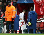 Arsenal's Olivier Giroud looks on dejected after the final whistle<br /> <br /> Champions League - Arsenal  vs AS Monaco  - Emirates Stadium - England - 25th February 2015 - Picture David Klein/Sportimage