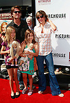 US actress Lisa Rinna arrives with husband Harry Hamlin and daughters Amelia and Delilah (far left) at the world premiere of 'Kit Kittredge: An American Girl' at the Grove in Los Angeles, California on 14 June 2008. The film is based on the American Girl doll line and centers on Kit Kittredge, a young woman who grows up in the early years of the Great Depression.