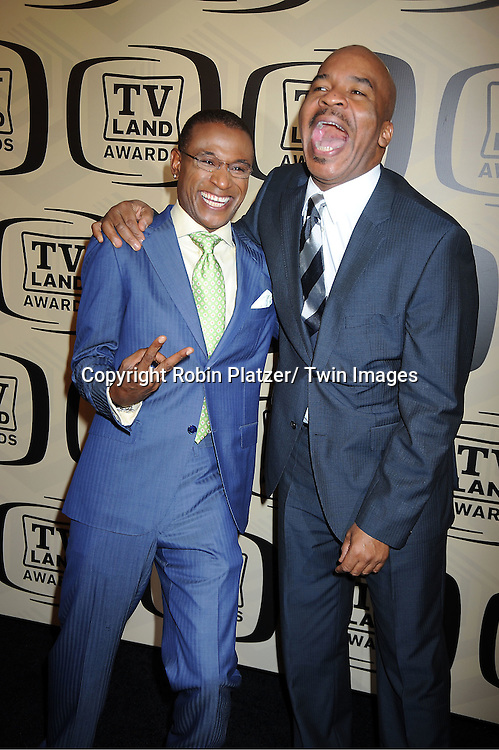 Tommy Davidson and David Alan Grier arrives at The 10th Annual TV Land Awards on April 14, 2012 at the Lexington Avenue Armory  in New York City.