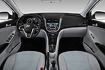 Stock photo of straight dashboard view of 2017 Hyundai Accent SE 6-Speed Automatic 5 Door Hatchback Dashboard