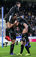 Burnley's Ashley Barnes celebrates scoring his side's second goal with team mates<br /> <br /> Photographer Andrew Kearns/CameraSport<br /> <br /> The Premier League - Huddersfield Town v Burnley - Wednesday 2nd January 2019 - John Smith's Stadium - Huddersfield<br /> <br /> World Copyright © 2019 CameraSport. All rights reserved. 43 Linden Ave. Countesthorpe. Leicester. England. LE8 5PG - Tel: +44 (0) 116 277 4147 - admin@camerasport.com - www.camerasport.com