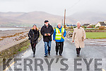 Sinead Kelliher Kerrys Eye out canvassing with Martin Ferris Sinn Fein Tommy Riordan and in Cromane on Saturday