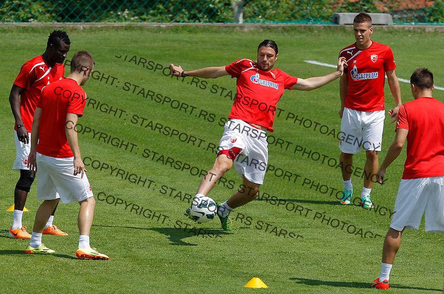 Fudbal Soccer<br /> FK Crvena Zvezda-Pripreme za sezonu 2014-2015<br /> Aleksandar Kovacevic Djordje Rakic (C)<br /> Beograd, 06.27.2014.<br /> foto: Srdjan Stevanovic/Starsportphoto&copy;
