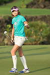 Cindy Lee plays during the World Celebrity Pro-Am 2016 Mission Hills China Golf Tournament on 23 October 2016, in Haikou, Hainan province, China. Photo by Marcio Machado / Power Sport Images