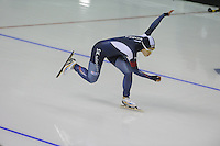SPEEDSKATING: CALGARY: 13-11-2015, Olympic Oval, ISU World Cup, 500m, Sang-Hwa Lee (KOR), ©foto Martin de Jong