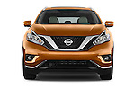 Car photography straight front view of a 2015 Nissan Murano Platinum 5 Door SUV Front View