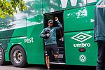 20.07.2019, Heinz Detmar Stadion, Lohne, Interwetten Cup 1.VfL Osnabrück vs SV Werder Bremen<br /> <br /> im Bild / picture shows <br /> Ankunft Werder bremen in Lohne<br /> Martin Harnik (Werder Bremen #09)<br /> Foto © nordphoto / Kokenge